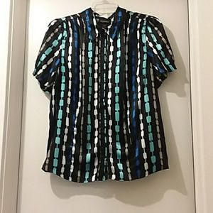 LANE BRYANT black blouse different colors design